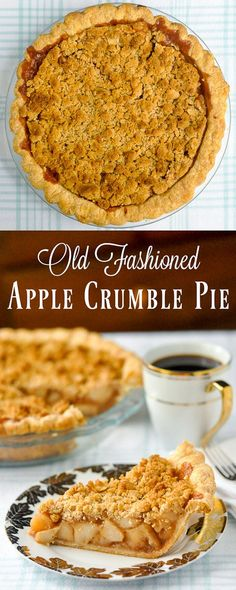 Deep Dish Apple Crumble Pie - a new method to bake it perfectly!
