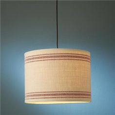 French Feedsack Drum Pendant 3 colors!