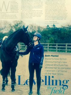 Fantastic to see our Harry Hall riders in the press this week! Theo Funnell featured in Horse & Hound & Beth Mantel in British Showjumping Magazine talking about her ‪#‎HOYS‬ win!