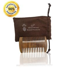 Wildewood Beard Products Dual Action Anti Static Handcrafted Wooden Beard and Hair Comb for Men  Sandalwood Scent  Beard Comb Pocket Fine and Coarse Teeth *** You can get additional details at the image link.(This is an Amazon affiliate link and I receive a commission for the sales)