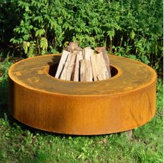 Fire table in Corten Steel available at Architectural Plants