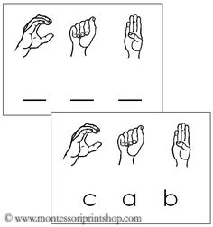 American Sign Language Words - 3 letters