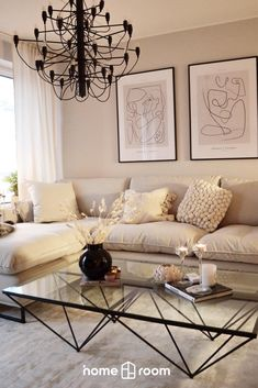 Låt dig inspireras av Homerooms breda sortiment av möbler och inredningsdetaljer.  Living Room Grey, Small Living Rooms, Home Living Room, Living Room Decor, Home Decor Trends, Home Decor Inspiration, Champagne Living Room, Living Styles, Home Bedroom