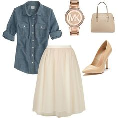 Untitled #165 by cmays1994 on Polyvore featuring J.Crew, Lola Skye, Maiden Lane, Kate Spade and MICHAEL Michael Kors #churchoutfits
