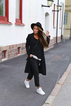 Black with white kicks.