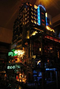 Cyberpank LEGO inspired by Blade Runner.