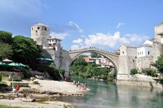 https://flic.kr/p/gM5i2c | Mostar Bridge over the Neretva river, Mostar, Bosnia and Herzegovina. (A UNESCO World Heritage Site) | The stone bridge, the Old Bridge (Stari Most), was erected in 1566 on the orders of Suleiman the Magnificent, the Ottoman ruler. It became the city's symbol and was considered one of the most important structures of the Ottoman era. It was built by Mimar Hayrudin, a student of the famous Ottoman architect Mimar Sinan. In the late 16th century, Mostar was the…