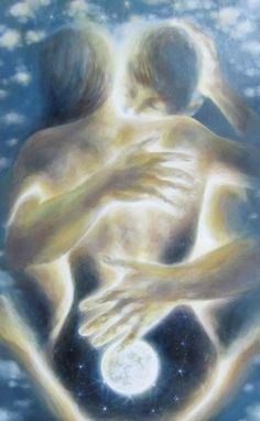 Take U over & under & twisted up like Origami, ah💗 shawndvilan Twinflames begin in spiritual sacred intimicy in the second etheric body, only twinf have this signs of many other signs Image Couple, Couple Art, Couple Sketch, Romance Arte, Art Amour, Twin Flame Love, Twin Flames, Flame Art, Visionary Art