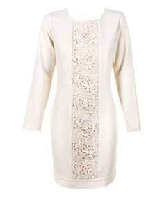 Look what I found on #zulily! Cream Peony Dress #zulilyfinds