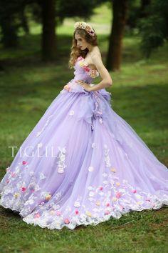 【楽天市場】ウェディングドレス_ウエディングドレス_カラードレス_花ドレス(c116p):ブライダルアモーレ