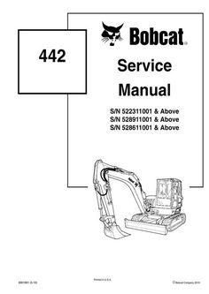Pdf Bobcat 331, 331E, 334 Compact Excavator Service Manual