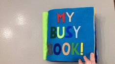 Felt Sensory Quiet Busy Book, Build your own! For Baby or Toddler Diy Busy Books, Diy Quiet Books, Baby Quiet Book, Felt Quiet Books, Felt Crafts Kids, Summer Crafts For Toddlers, Felt Kids, Quiet Book Templates, Quiet Book Patterns