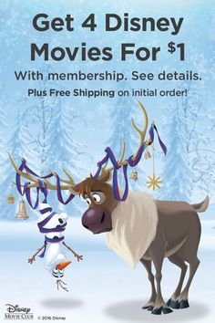 Want to make the most wonderful time of the year a little more wonderful? Get together with a Disney movie. Get 4 movies for $1 with membership. Plus free shipping on initial order. See details.