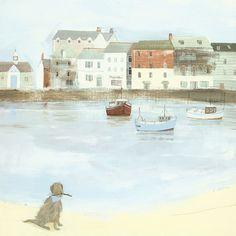 Art Group Cornish Sea Dog by Hannah Cole Art Print on Canvas & Reviews   Wayfair UK
