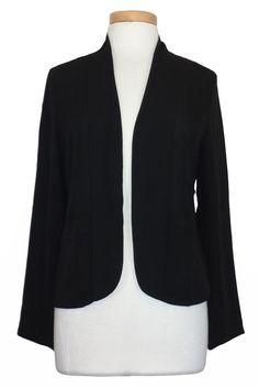 Lucky Brand Womens Jacket Blazer Silky Top Open Front Black Sz M NEW NWT $129 #LuckyBrand #BasicJacket