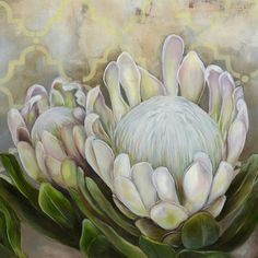 61 Ideas for succulent drawing simple artichokes Protea Art, Protea Flower, Wreath Watercolor, Watercolor Flowers, Purple Succulents, Succulents Diy, Succulents Drawing, South African Artists, Abstract Oil