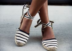 Summer is here finally! But instead of running your flip flops into the ground swap them out for a chicer option, the lace up espadrille! It seems like the espadrille is making waves this season in many forms from wedges, to heels, to slip ons, to slides. But the original lace up version is still my…