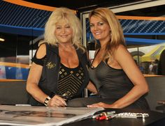 Linda Vaughn and Courtney Hansen