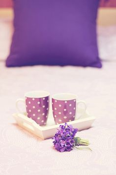 I like this idea with the tray on the bed for guests with a mug and maybe some tea etc...