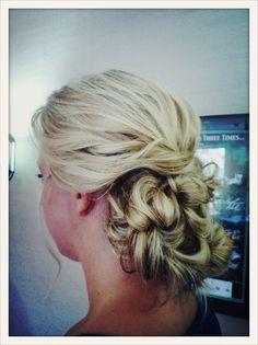 Curly hair bridal updo, Bridal updo , wedding hairstyles , bridesmaids hair, blonde hair www.jenniekaybeauty.com