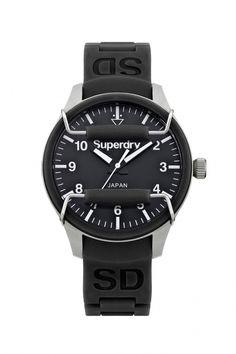 SYL120B - Superdry Scuba Black dames horloge