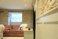 Here are my Top Tips for incorporating a large television in a period house. We live in a Georgian home and have just converted the basemen. Television Cabinet, New Television, New Cinema, Modern Country Style, Country Interiors, Chimney Breast, Georgian Homes, Cinema Room, Architectural Features