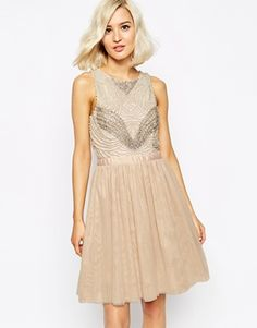 River Island Pearl Embellished Prom Dress