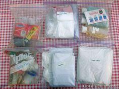 Camping supplies organize