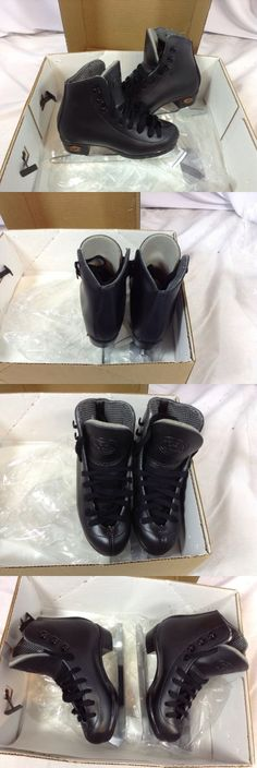 Youth 26344: Riedell Model 17 Figure Skates Youth Boys Size 10 Black New (Fs80) Ihh BUY IT NOW ONLY: $49.99