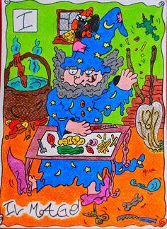 I. The Magician - Tarocchi di Mema by Manuela Panico aka Mema.