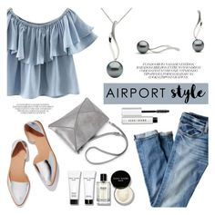 """""""Airport style"""" by pearlparadise ❤ liked on Polyvore featuring J.Crew, Chicnova Fashion, Loeffler Randall and Bobbi Brown Cosmetics"""