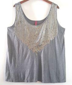 ed676763f3dee Details about Womens Plain Sleeveless Ladies Cami Strap Vest Tank Top  Blouse T-shirt Plus Size. Sequin Tank TopsSilver ...