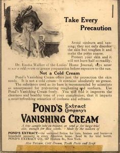 Pond's Extract Co.'s Pond's Vanishing Cream – Take Every Precaution (1914)