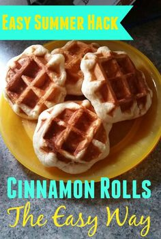 Here's an easy summer breakfast hack.  Learn how you can make Cinnamon Rolls -the Easy Way!