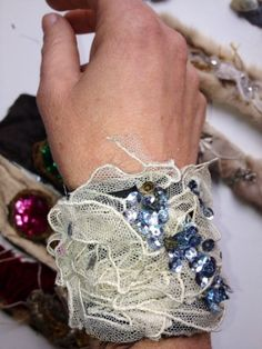 Falling Sky Sequin Handmade Cuff