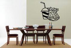 Wall Vinyl Sticker Decals Mural Room Design Pattern Hamburger French Fries…