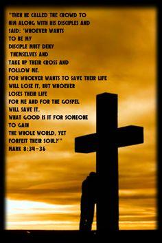 Mark 8:34-36