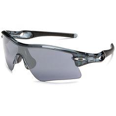434b124c6c Oakley Men`s Radar Range Sunglasses,Crystal Black Frame,Black Iridium Lens ,onesize