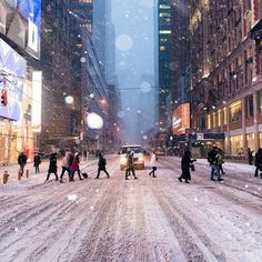 New York sous la neige #neige #rue #city #street #nyc
