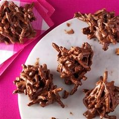 Chocolate Butterscotch Haystacks Recipe -My grandmother made haystacks like these and gave them to my cousin Vonnie and me when our parents didn't want us to have any more sweets.—Christine Schwester, Divide, CO