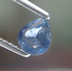 0.92ct Marvellous color! Pear Shape 6x5mm Natural Blue Sapphire