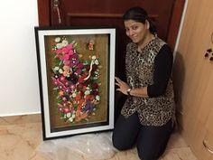 Quilled Floral masterpiece - by: Suchita Creations - FB
