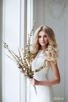 Long Wedding Hairstyles and Bridal Updo Hairstyles for Long Hair from elstile-spb 9
