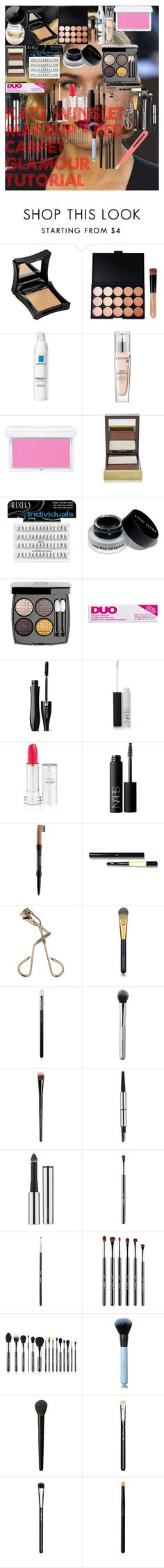"""""""Kate Winslet MakeUp - Red Carpet Glamour Tutorial"""" by oroartye-1 on Polyvore featuring beauty, Chanel, Illamasqua, La Roche-Posay, Lancôme, RMK, Tom Ford, Ardell, Bobbi Brown Cosmetics and DUO"""