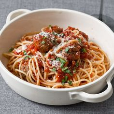 Classic Spaghetti and Meatballs   Food