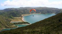 Paragliding Azores - The adventure playground of the Azores: this chain of nine islands spread across more than 600km in the Atlantic Ocean is finally getting the recognition it deserves, as both an emerging adventure travel destination and a place of pristine, singular beauty. Adventure, Azores, Portugal