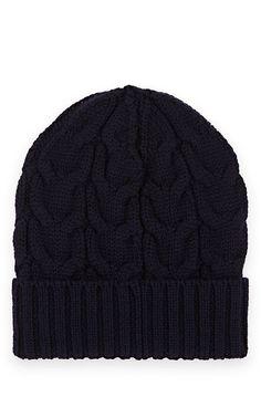 b52fd59574b Moncler Kids  Cable-Stitch Wool Beanie - 4 6 Yrs Navy