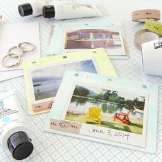 Picture-Perfect Polaroid Mini Book Project by Christen Olivarez - Stampington Instax Mini Ideas, Polaroid Pictures, Polaroid Ideas, Polaroids, Retro Photography, Book Projects, Diy Projects, Presents For Friends, Crafty Craft
