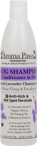 Aroma Paws 12 oz. Luxury Dog Shampoo & Conditioner in One Lavender Chamomile: Anti-itch & Hot Spot Relief Formula *** Want additional info? Click on the image.