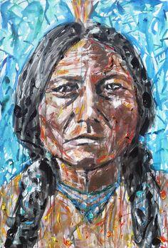 Sitting Bull ------ by Kent Paulette ( aka derfla ) 30 x 50 inches